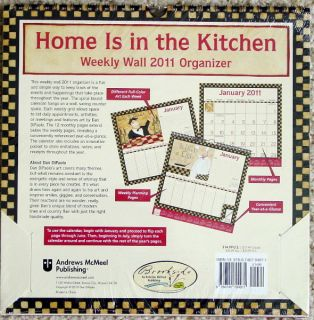 2011 Home Is in The Kitchen Organizing Wall Calendar