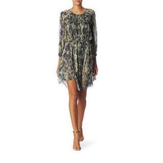 Isabel Marant Mainline Martina Dress Snake Print Silk Eur 38