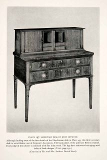 Secretary Desk Cabinet Furniture Seymour Craftsman Woodworker Artisan