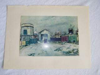 Vintage Maurice Utrillo Plate Twelve Philosophers Tower
