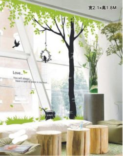 Wall Paper Art Sticker Big Tree and Birds ML44