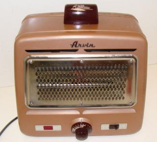 vintage arvin brown electric space heater it actually has a tipover