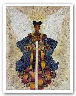 African American Art Angel Pearls by Alonzo Saunders