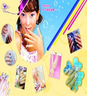 NEW SALON EXPRESS NAIL ART STAMPING KIT AS SEEN ON TV CREATE 100S OF