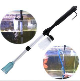 Aquarium Fish Tank Gravel Filter Water Pump Vacuum Cleaner Battery