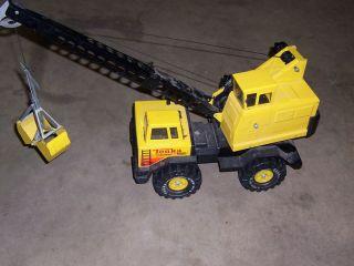 Dump Truck Cement Concrete Mixer Crane Lot Tonkas Toys Vintage