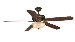 Hampton Bay Asbury 60 inch Ceiling Fan with Remote Control Gilded