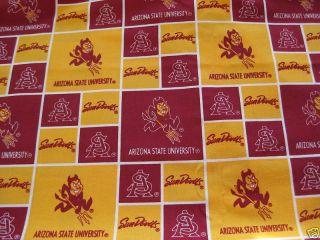 ASU Arizona State University Sun Devils Fabric Fat Quarter