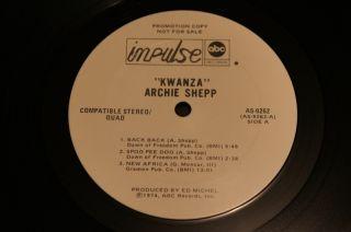 archie shepp kwanza impulse 1974 gatefold white label promo