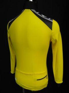 Assos Switzerland Yellow Mens Full Zip Cycling Jacket Jersey Large