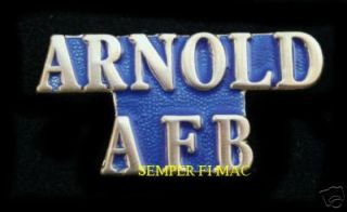 Arnold Air Force Base AFB US Air Force Tennessee Pin