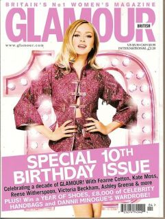 UK Glamour Fearne Cotton Ashley Greene 10th Birthday Issue April 2011