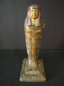 rare 1923 signed louis v aronson art deco mummy lamp