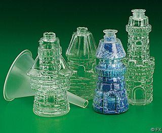 Plastic Castle Sand Art Bottles 12 Pcs 12974