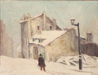 Old Oil Panting Mimi Prinson House Maurice Utrillo