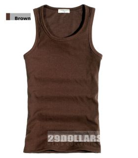 Mens Tank Top Shirt, Sleeveless Basic Tee, GYM Sports Vest/ Fitted
