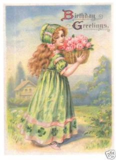 10 New Personalized Victorian Birthday Cards Assorted