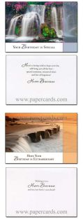 New Vistas Box of 12 Assorted Birthday Cards with Envelopes