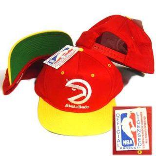 NBA Atlanta Hawks Old School Snap Back Hat Cap Vintage