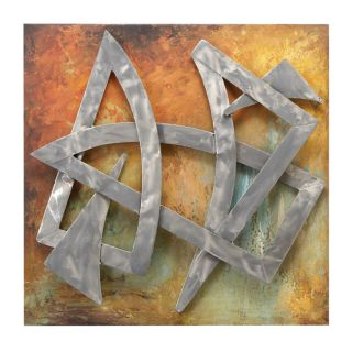 Hand Painted Astoria Abstract Art Metal Wall Decor
