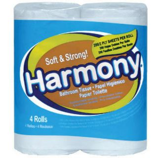 Atlas Paper Mills Harmony Toilet Tissue 2 Ply White 76 Sheets Roll