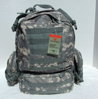 3DAY Military Army ACU Advanced Hydro Assault Backpack 20x15x10 New 2