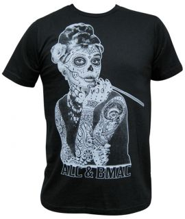 Mens Aubrey by Jarad Bryant Tattooed Celebrity Sugar Skull Mask Black