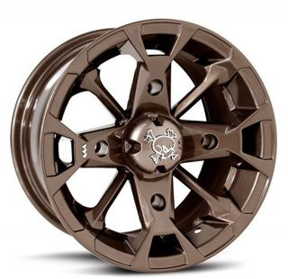MSA M17 Elixir Bronze 14X7 ATV Wheels Rims Can Am Outlander 400 650