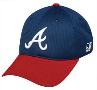 Atlanta Braves Fitted MLB Cap LARGE XL ProFlex Mesh Replica Baseball