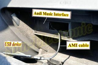 Micro USB to Audi Interface Ami MMI for Samsung HTC Cellphone