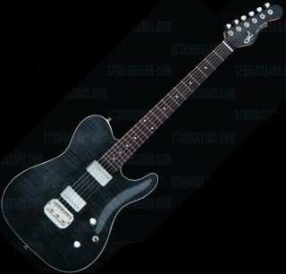 Tribute ASAT Deluxe Carved Top Guitar Transparent Black Brand New