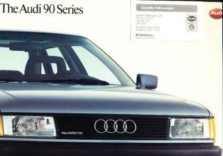1988 Audi 90 Quattro Deluxe Sales Brochure Book