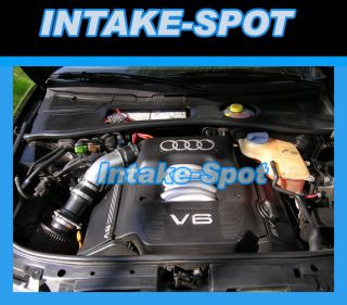 BLACK BLUE AUDI 90 QUATTRO 2.8L V6 S CS AIR INTAKE KIT + FILTER 1993
