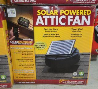 US Sunlight Solar Attic Ventilator Fan 1010TR