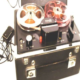 REEL TO REEL TAPE DECK RECORDING AUDIO WORK PORTABLE ELECTRIC TUBE