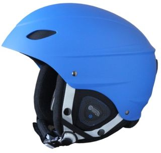 Phantom Audio Blue Mens or Womens Snowboard Ski Helmet New