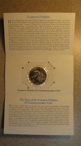 1993 $5 Marshall Islands Common Dolphin Commemorative Coin