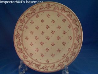 Johnson Brothers Petite Fleur Pink Burgundy Dinner Plate