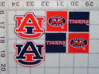 AUBURN UNIVERSITY TIGERS Iron On Fabric Appliques No Sew Set 2