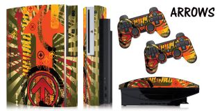 SKIN STICKER COVER 4 ORIGINAL PS3 FAT SYSTEM PLAYSTATION 3, CONTROLLER
