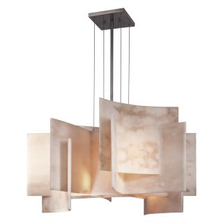 084 Retro Modern 5 Light Alabaster Dust Art Deco Chandelier