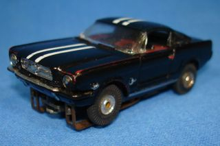 AURORA TJET #1373 BLACK FACTORY PAINTED FORD MUSTANG FASTBACK HO SLOT