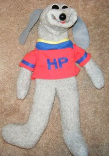 Hush Puppy Puppet Plush Toy 1993 Shari Lewis Large Grey Hand Puppet