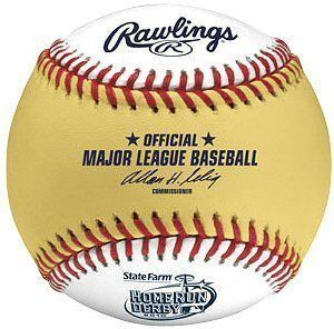 Rawlings 2010 Home Run Derby Baseball 2 Tone Ball Collectors Item
