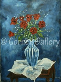 NY American Art Jeanne Ross LARGE Impasto Modern Floral Oil on Canvas