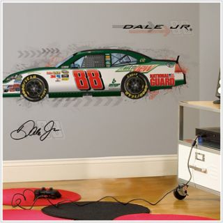 NASCAR Dale Earnhardt Jr Big Wall Stickers Room Decor Mural Race Car