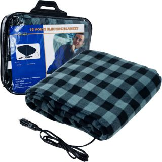 Home and Garden Trademark Travel Electric Plaid Blanket for Automobile