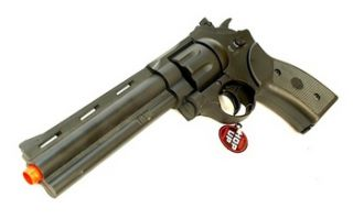 electric 357 magnum revolver full semi auto airsoft gun requires 4 x