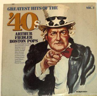 Arthur Fiedler Boston Pops Greatest Hits of The 40s LP