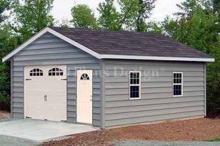 18 x 28 Car Garage Workshop Shed Building Plans 51828